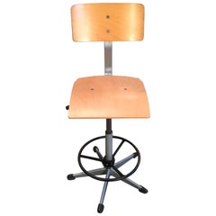 Vintage Danish Height Adjustable School Chair, 1970s