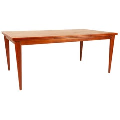 Vintage Danish Large Teak Dining Table Model 254 by N.O. Møller for J.L. Møllers