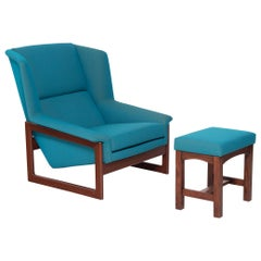 Vintage Danish Lounge Chair Set