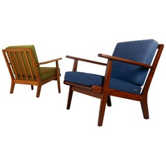 Vintage Danish Lounge Chairs by Aage Pedersen for GETAMA 1960s, Set of 2