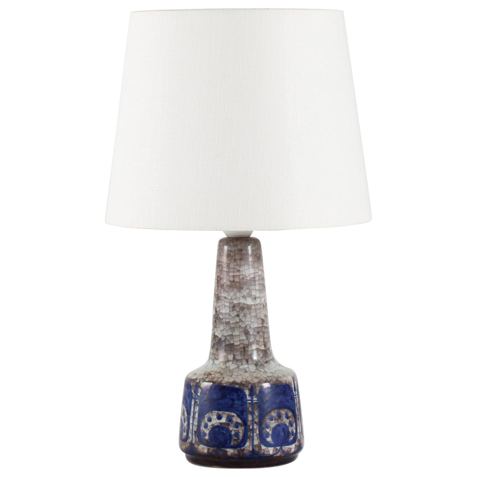 Vintage Danish Marianne Starck for Michael Andersen Table Lamp Blue Persia 1960s