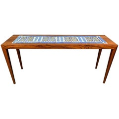 Vintage Danish Mid Century Coffee Table in Rosewood by Severin Hansen