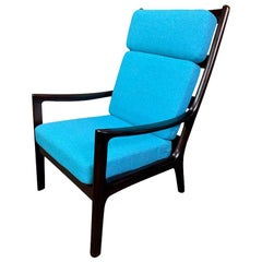 "Vintage Danish Midcentury Mahogany ""Senator"" Lounge Chair by Ole Wanscher"