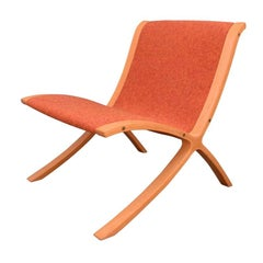 "Vintage Danish Mid-Century Modern ""Ax"" Chair by Peter Hvidt for Fritz Hansen"