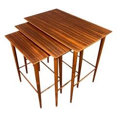 Vintage Danish Mid-Century Modern Mahogany Nesting Tables