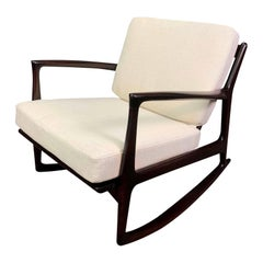 Vintage Danish Mid-Century Modern Rocking Chair by Kofod Larsen for Selig