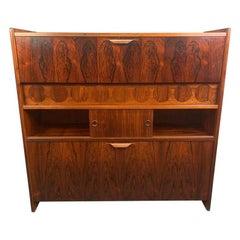 Vintage Danish Mid-Century Modern Rosewood Bar Model Sk 661 by Johannes Andersen