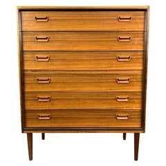 Vintage Danish Mid-Century Modern Rosewood Chest of Drawers by Munch Slagelse