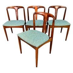 "Vintage Danish Mid-Century Modern Rosewood ""Julia"" Chairs by Johannes Andersen"