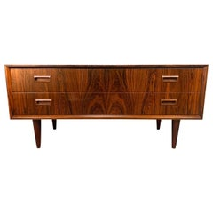 Vintage Danish Mid-Century Modern Rosewood Low Chest Cabinet