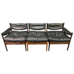 "Vintage Danish Mid-Century Modern Rosewood ""Modus"" Modular Sofa by Kristian Vede"
