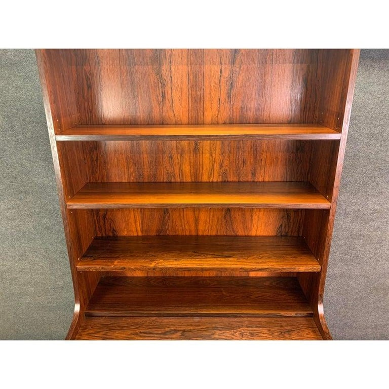 Vintage Danish Mid-Century Modern Rosewood Secretary Bookcase by Johannes Sorth For Sale 3