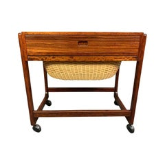Vintage Danish Mid-Century Modern Rosewood Sewing Cart by BR Gelsted