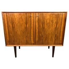 Vintage Danish Mid-Century Modern Rosewood Storage Cabinet