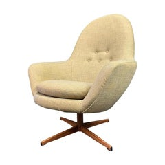 Vintage Danish Mid-Century Modern Swivel Lounge Chair