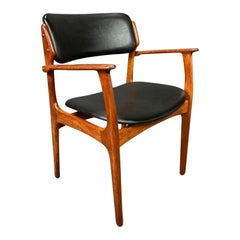 Vintage Danish Mid-Century Modern Teak Armchair Model 50 by Erik Buck