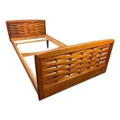 Vintage Danish Mid-Century Modern Teak Bed Frame