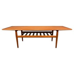 Vintage Danish Mid-Century Modern Teak Coffee Table by Grete Jalk for Glostrup