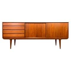 """Vintage Danish Mid-Century Modern Teak Credenza """"Model 18"""" by Gunni Omann"""