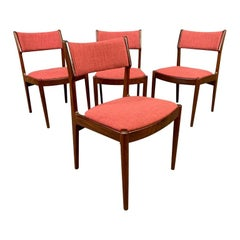 Vintage Danish Mid-Century Modern Teak Dining Chairs, Set of 4