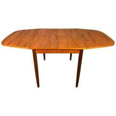 Vintage Danish Mid-Century Modern Teak Drop-Leaf Dining Table