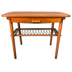 Vintage Danish Mid-Century Modern Teak End Table