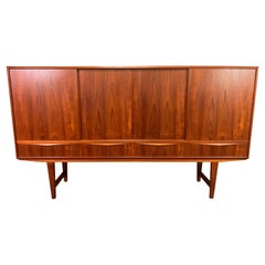 Vintage Danish Mid-Century Modern Teak Highboard by E.W. Bach for Sejling Skabe