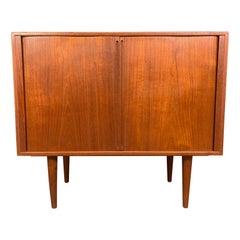 Vintage Danish Mid-Century Modern Teak Record Cabinet by Kai Kristiansen