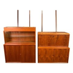"Vintage Danish Mid-Century Modern Teak ""Royal System"" Wall Unit by Cado"