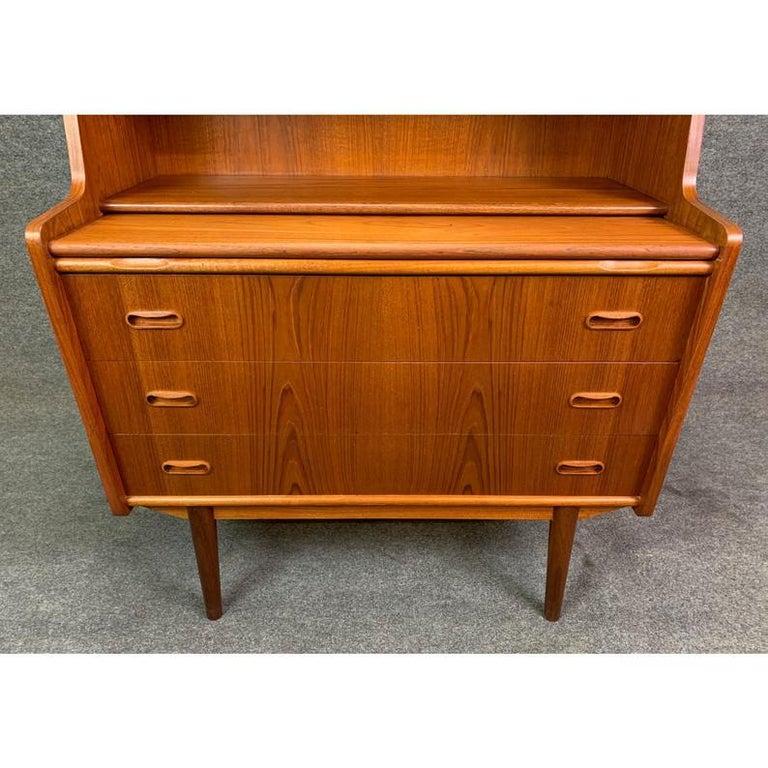 Vintage Danish Mid-Century Modern Teak Secretary Desk For Sale 3