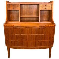 Vintage Danish Mid-Century Modern Teak Secretary Desk