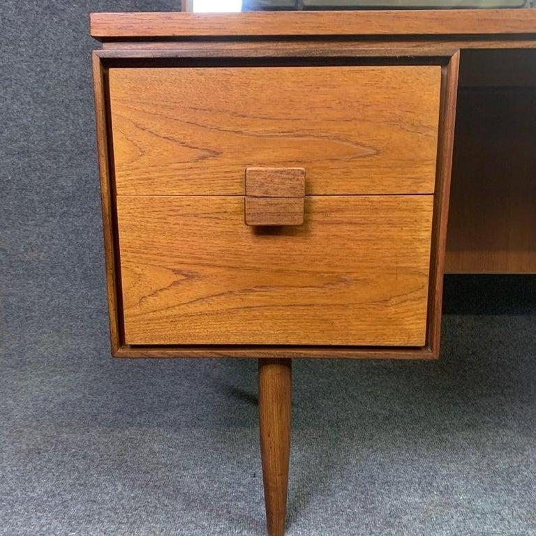 Vintage Danish Mid-Century Modern Teak Vanity Desk by Kofod Larsen for G Plan For Sale 4