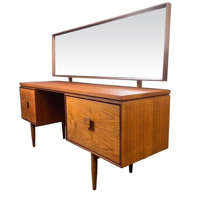 Woodwork Vintage Danish Mid-Century Modern Teak Vanity Desk by Kofod Larsen for G Plan For Sale