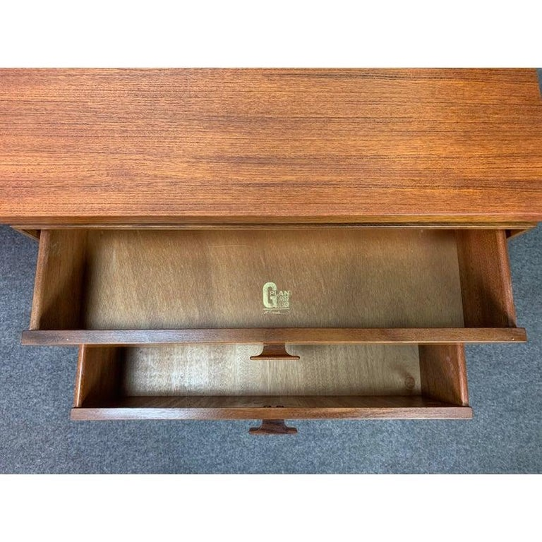 Mid-20th Century Vintage Danish Mid-Century Modern Teak Vanity Desk by Kofod Larsen for G Plan For Sale