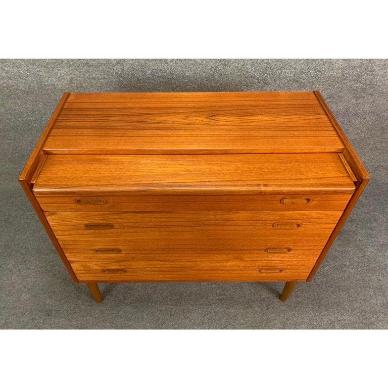 Vintage Danish Mid-Century Modern Teak Vanity Dresser 7