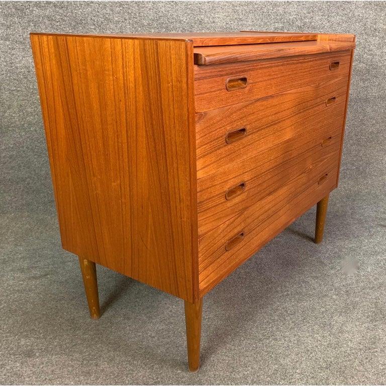 Vintage Danish Mid-Century Modern Teak Vanity Dresser 2