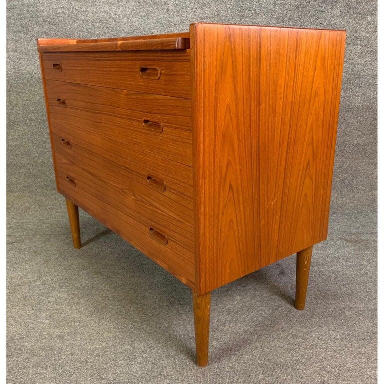 Vintage Danish Mid-Century Modern Teak Vanity Dresser 4