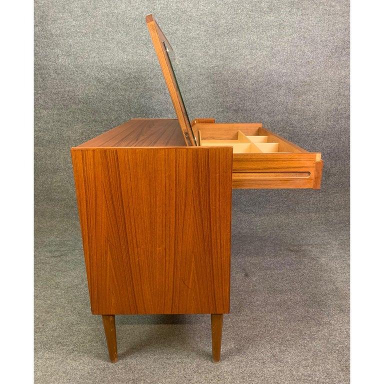 Vintage Danish Mid-Century Modern Teak Vanity Dresser 6