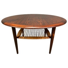 Vintage Danish Midcentury Rosewood Coffee Table by Johannes Andersen for CFC