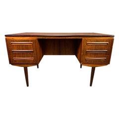 Vintage Danish Midcentury Rosewood Writing Desk by J. Svenstrup for AP Mobler