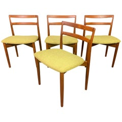 "Vintage Danish Midcentury Teak Dining Chairs ""Model 61"" by Harry Ostergaard"