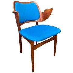 Vintage Danish Midcentury Teak & Oak Side Chair by Hans Olsen for Bramin Mobler