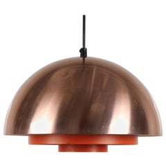 "Vintage Danish ""Milieu"" Copper Pendant by Jo Hammerborg for Fog & Mørup, 1960s"