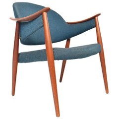 Vintage Danish Modern Atomic Midcentury Teak Lounge Chair