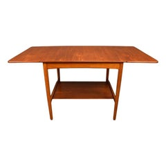 Vintage Danish Modern Hans Wegner AT32 Teak Side Table