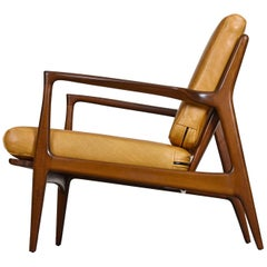 Vintage Danish Modern Ib Kofod-Larsen Sculpted Blade Arm Lounge Chair for Selig