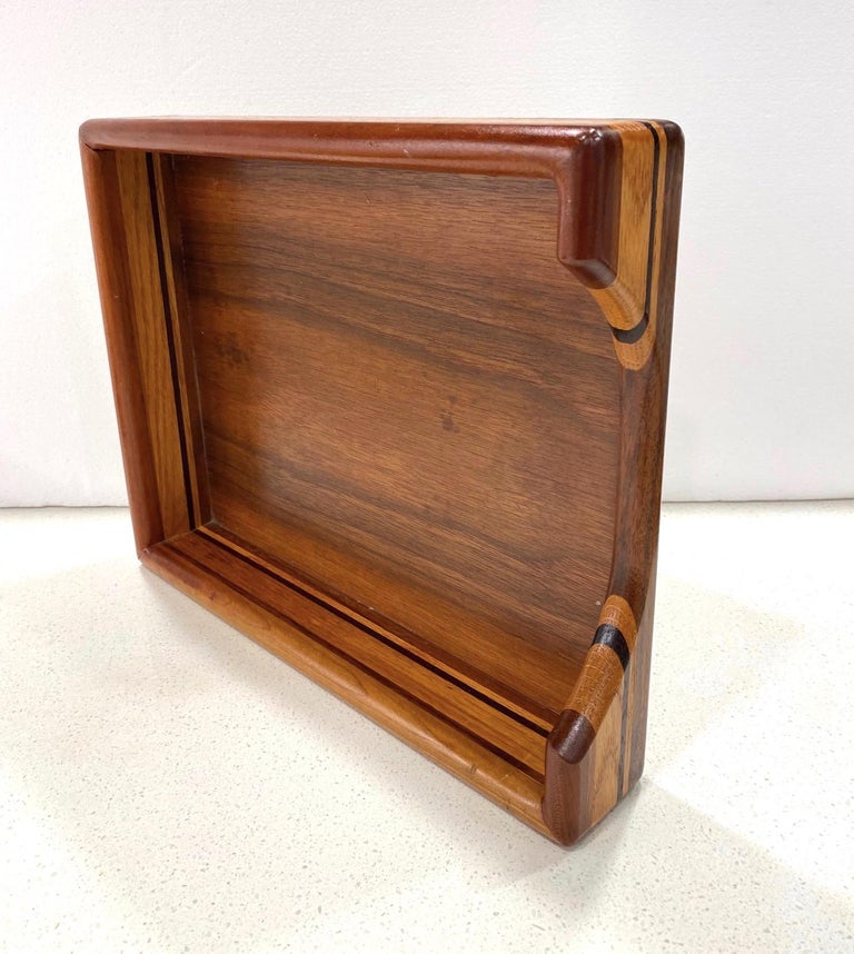 Vintage Danish Modern Letter and Paper Tray in Teak, Maple, and Walnut For Sale 4