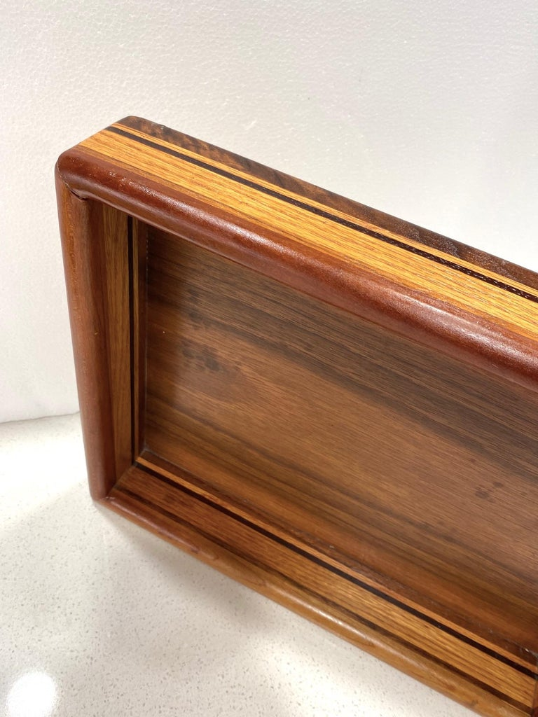 Vintage Danish Modern Letter and Paper Tray in Teak, Maple, and Walnut For Sale 5