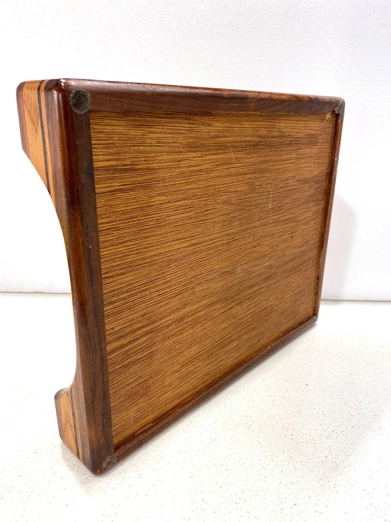 Vintage Danish Modern Letter and Paper Tray in Teak, Maple, and Walnut For Sale 6