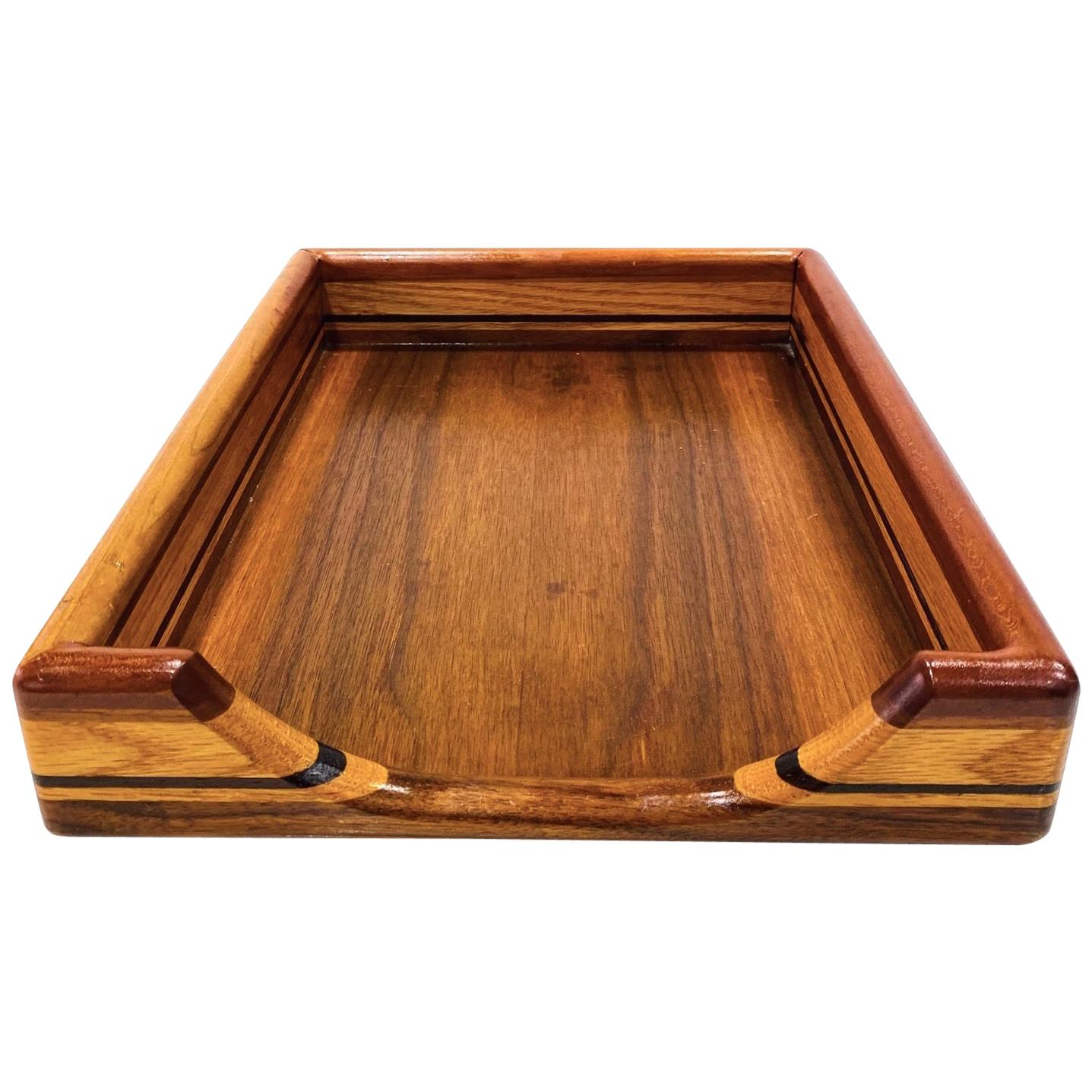 Vintage Danish Modern Letter and Paper Tray in Teak, Maple, and Walnut